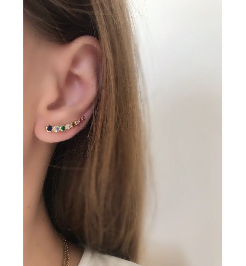 EARRINGS EARCUFFS RAINBOW