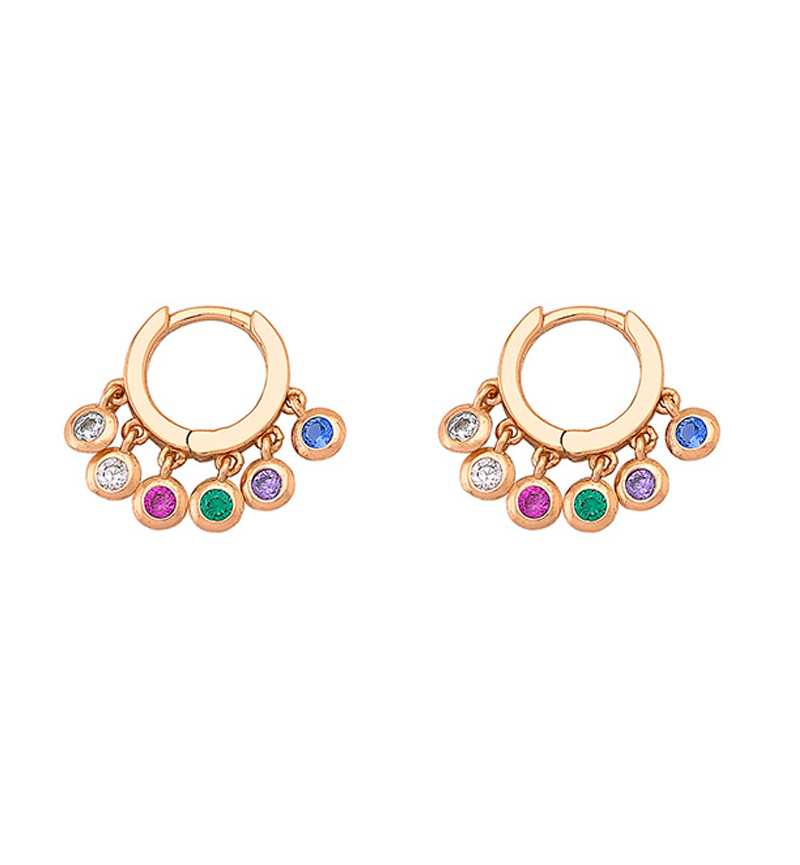 EARRINGS HOOPS MULTI