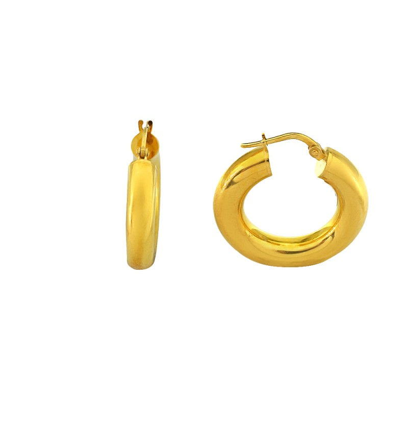EARRINGS GOLD PLATED HOOPS 2.2CM