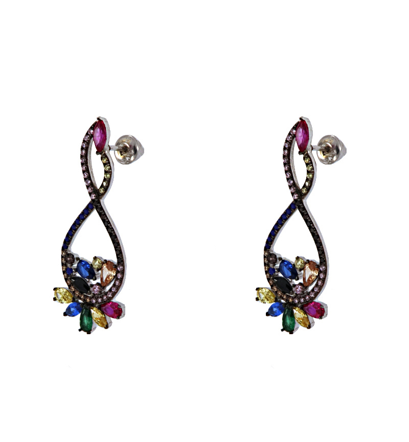 EARRINGS COLORFUL STONES