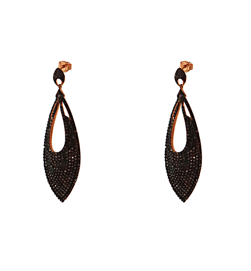 EARRINGS BLACK DROPS