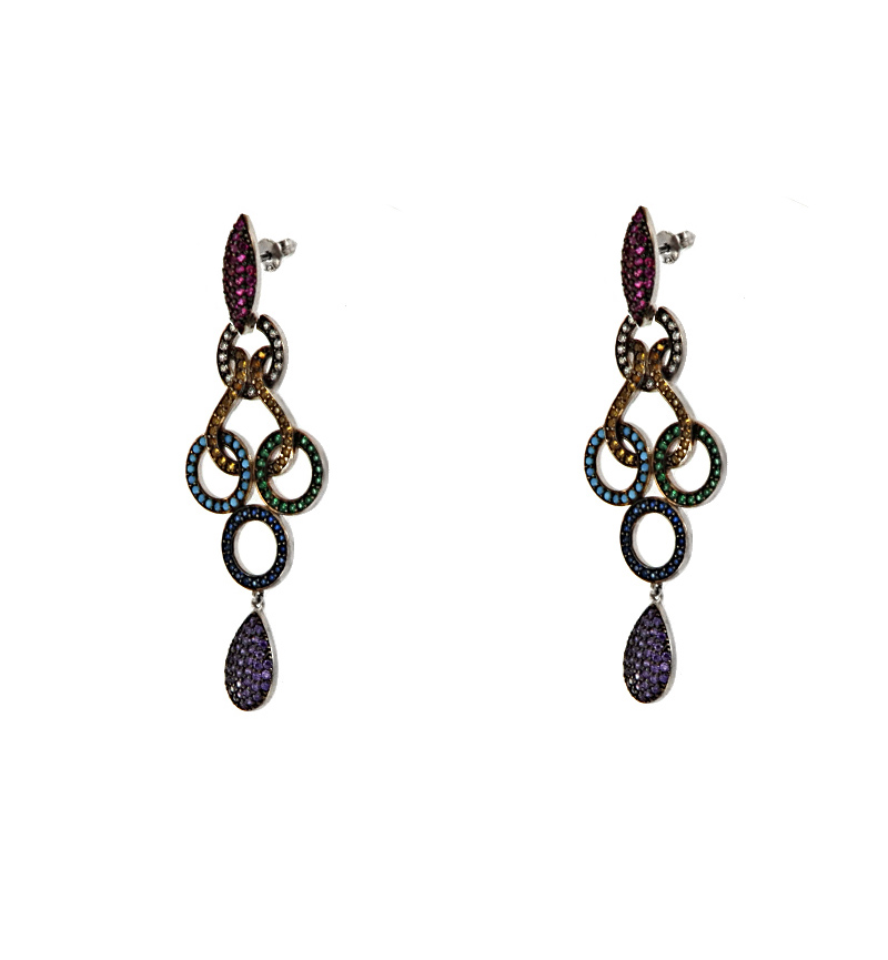 EARRINGS VINTAGE COLORFUL CYCLES