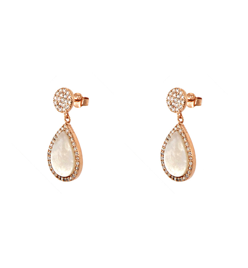 EARRINGS  IVORY DROPS