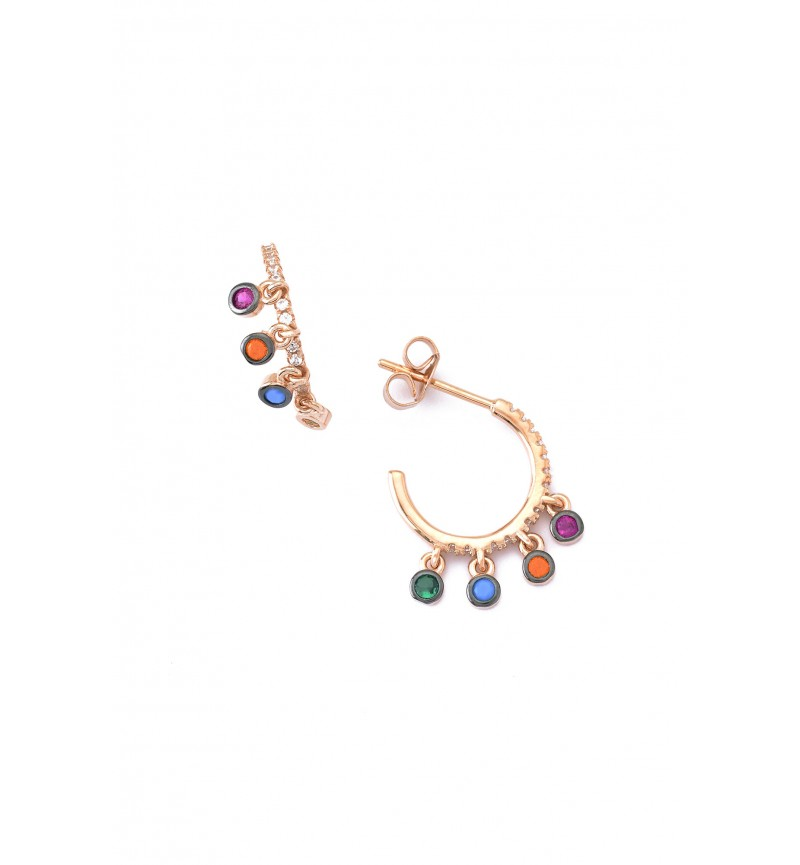 EARRINGS RAINBOW HOOPS