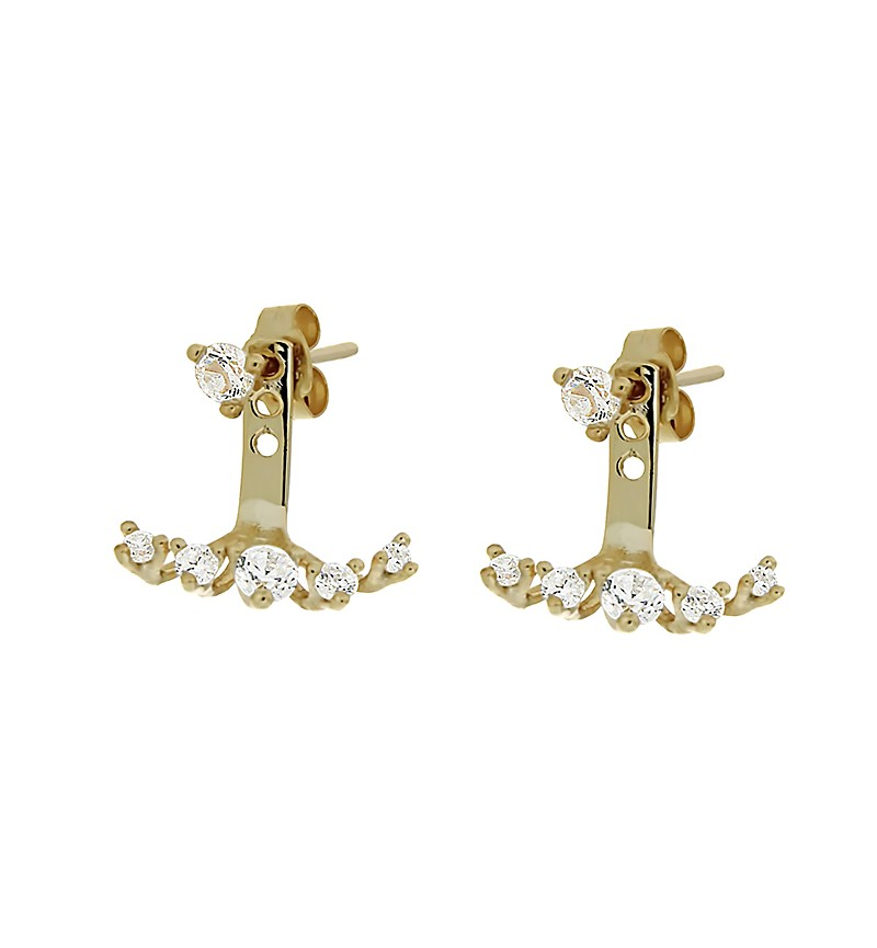 EARRINGS EARJACKETS ZIRCONS