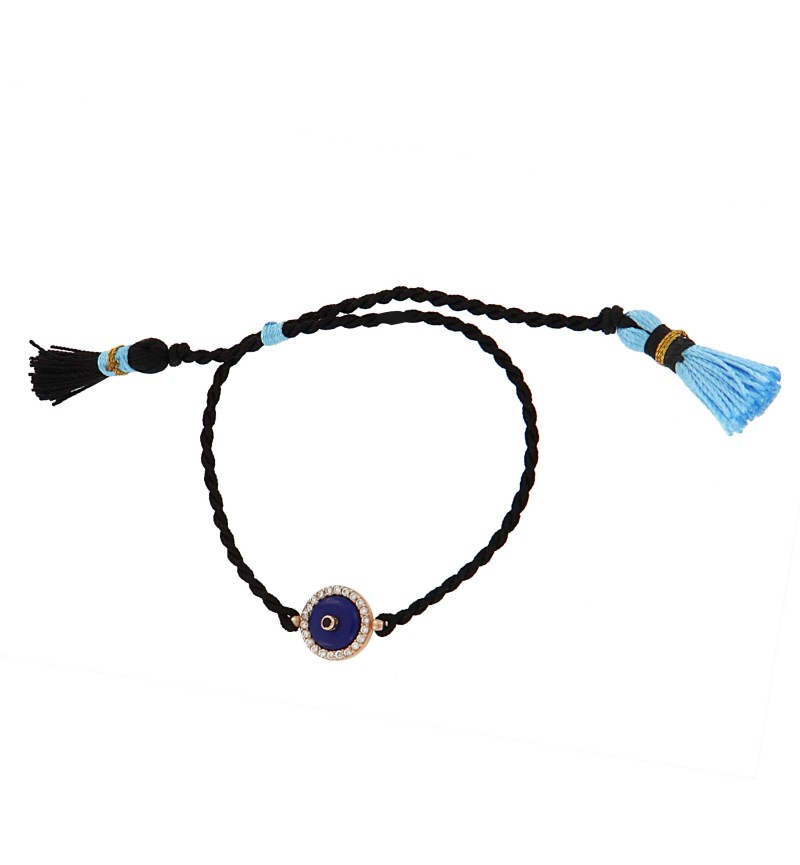 BRACELET BLUE AND BLACK ROPE EYE