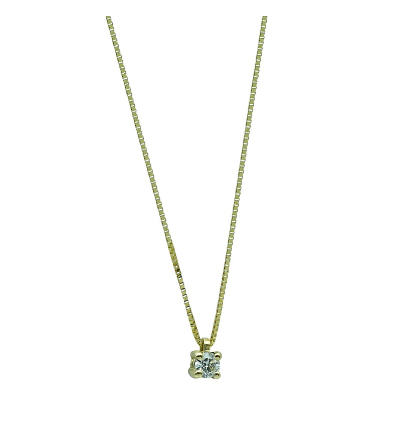 Necklace yellow gold brilliant