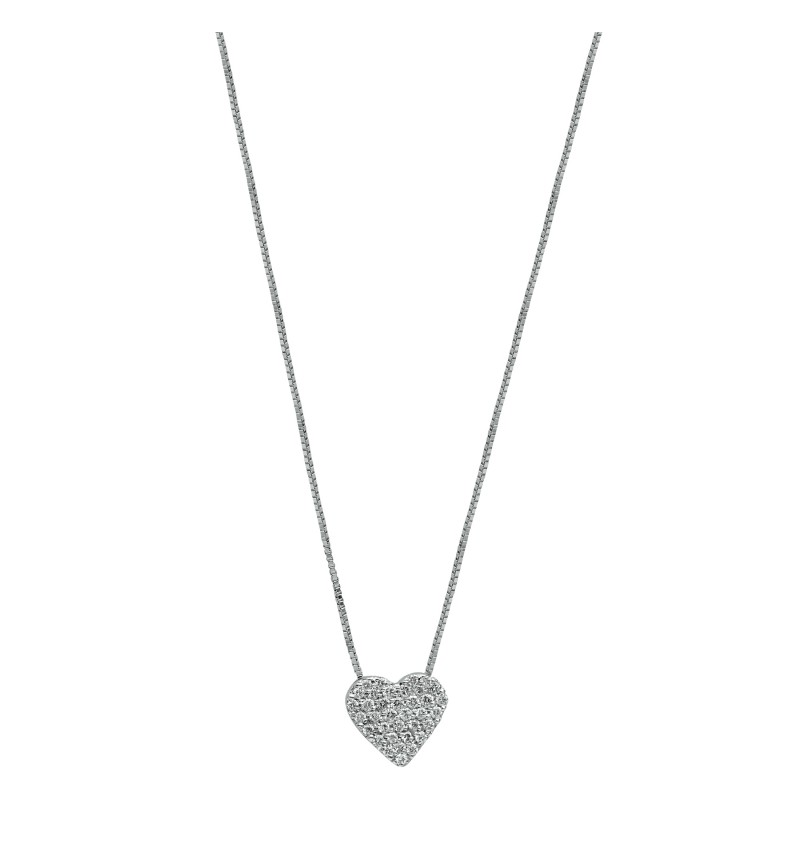 Necklace diamond heart