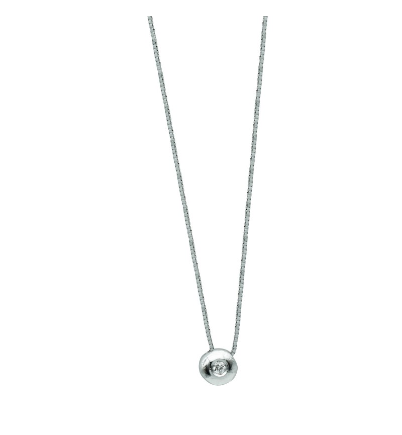Necklace white gold brilliant 26
