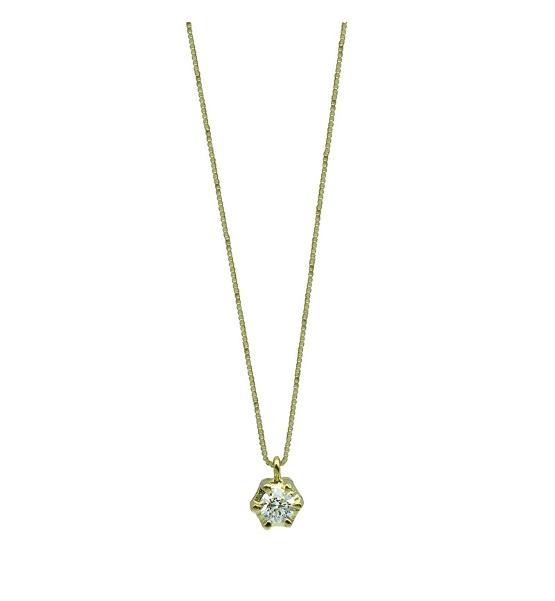 NECKLACE YELLOW GOLD DIAMOND 30