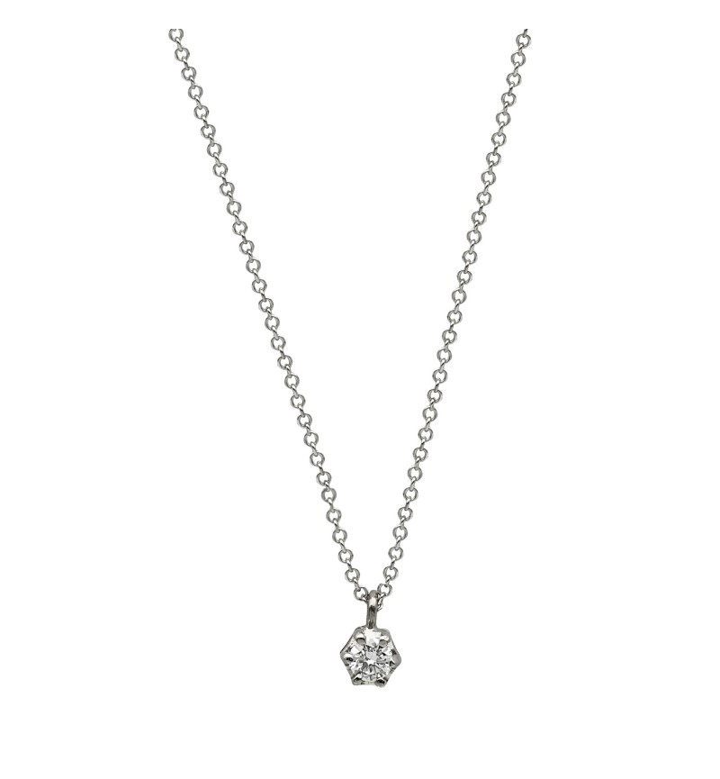 NECKLACE WHITE GOLD BRILLIANT 32