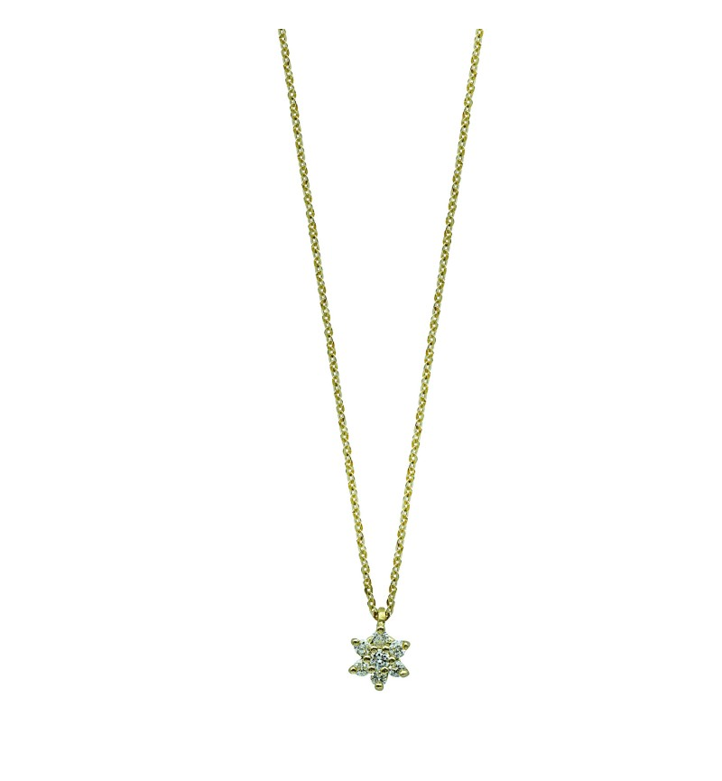 NECKLACE YELLOW GOLD DIAMOND 40