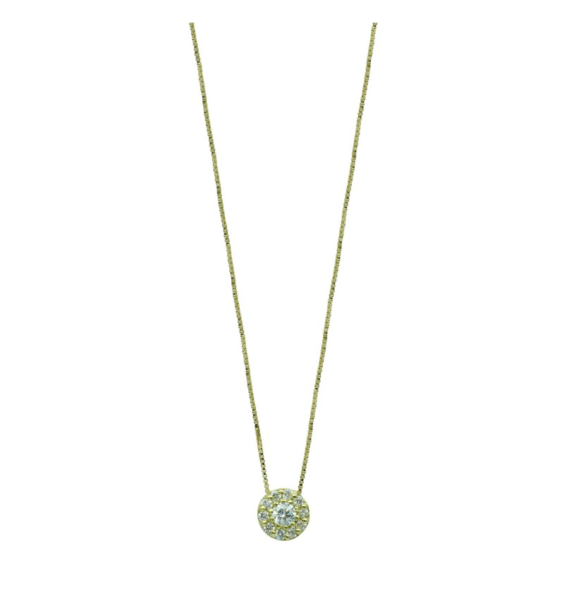 NECKLACE YELLOW GOLD DIAMOND 44
