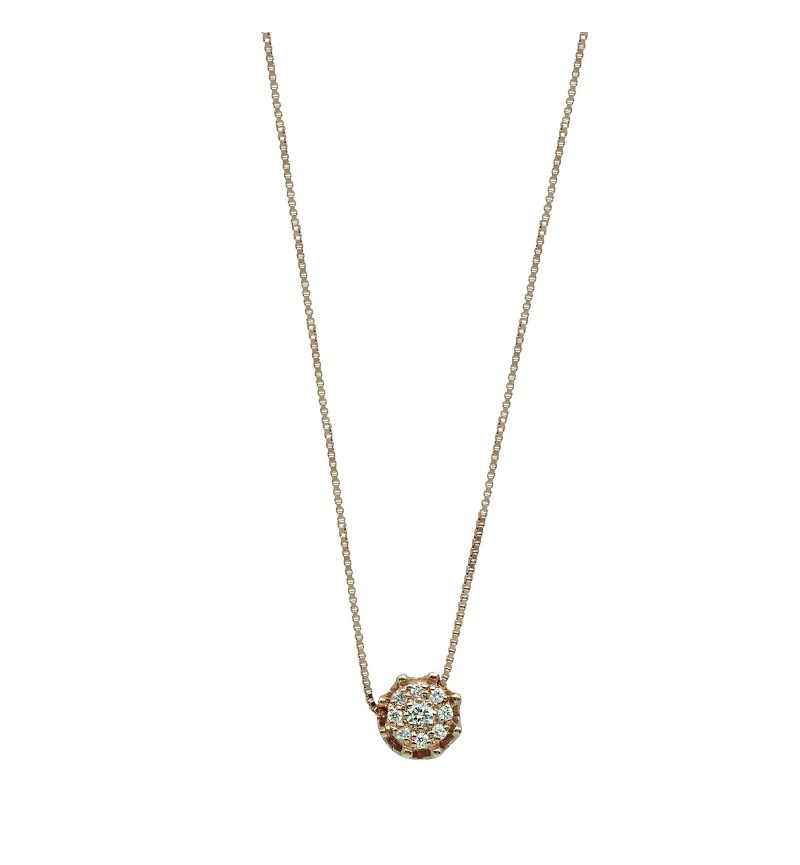 NECKLACE YELLOW GOLD DIAMOND 48