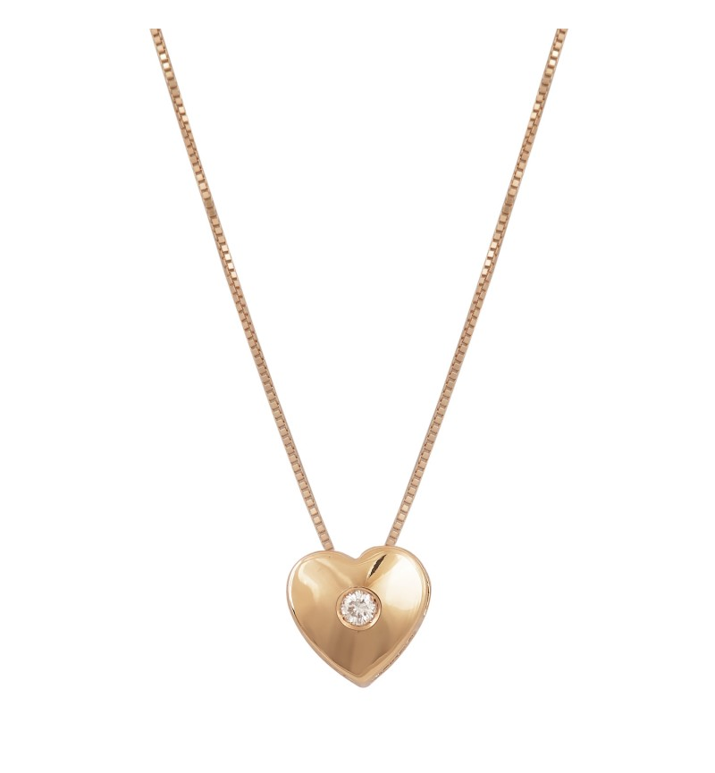 ΚΟΛΙΕ ROSE GOLD PRECIOUS HEART