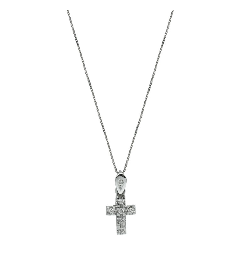 NECKLACE WHITE GOLD CROSS 2022