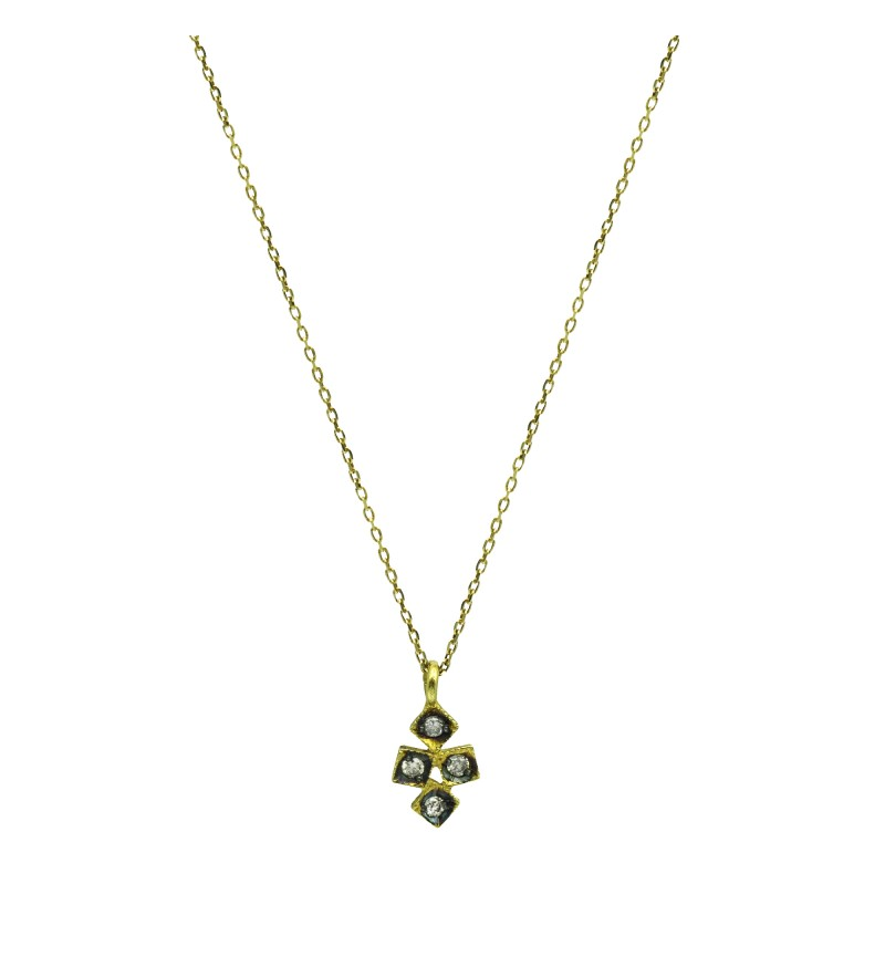 Necklace yellow gold cross 2029