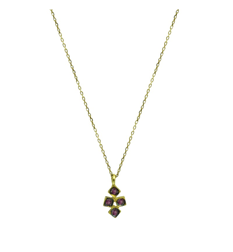 NECKLACE YELLOW GOLD CROSS 2030