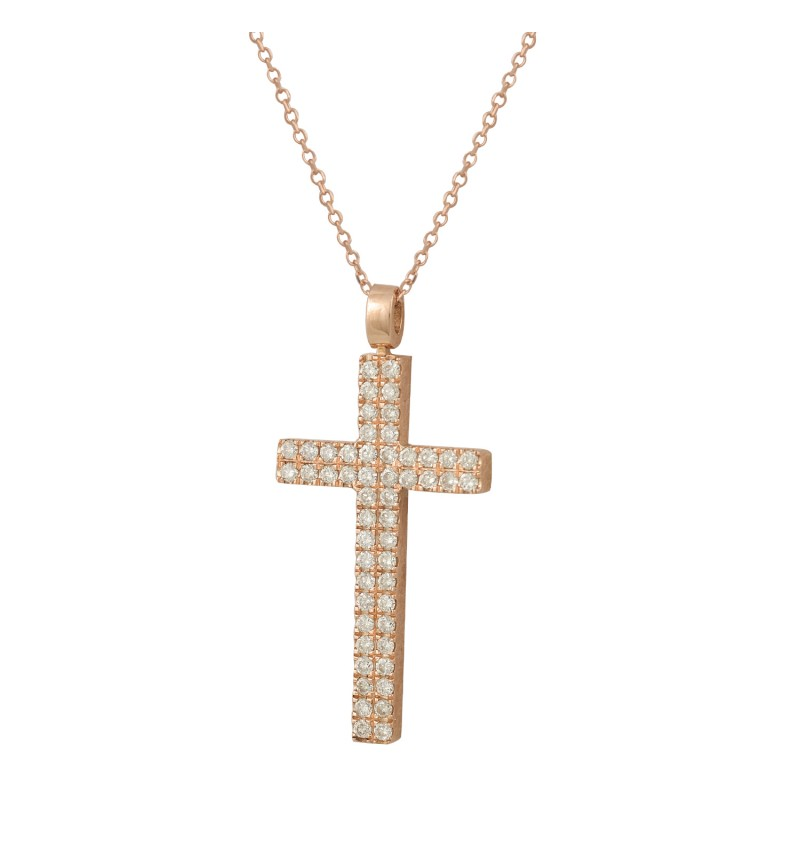 ROSE GOLD CROSS DIAMOND 2033