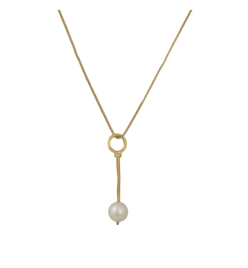 NECKLACE GOLD PEARL 1079