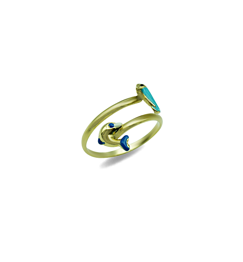 Ring blue dolphin