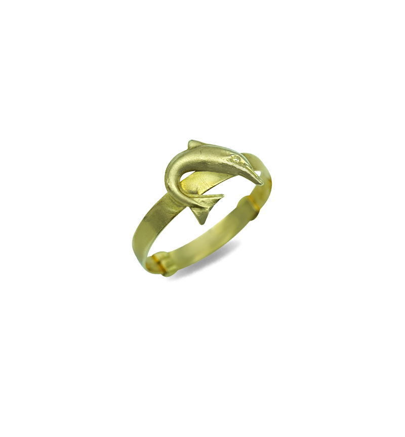 Ring gold dolphin