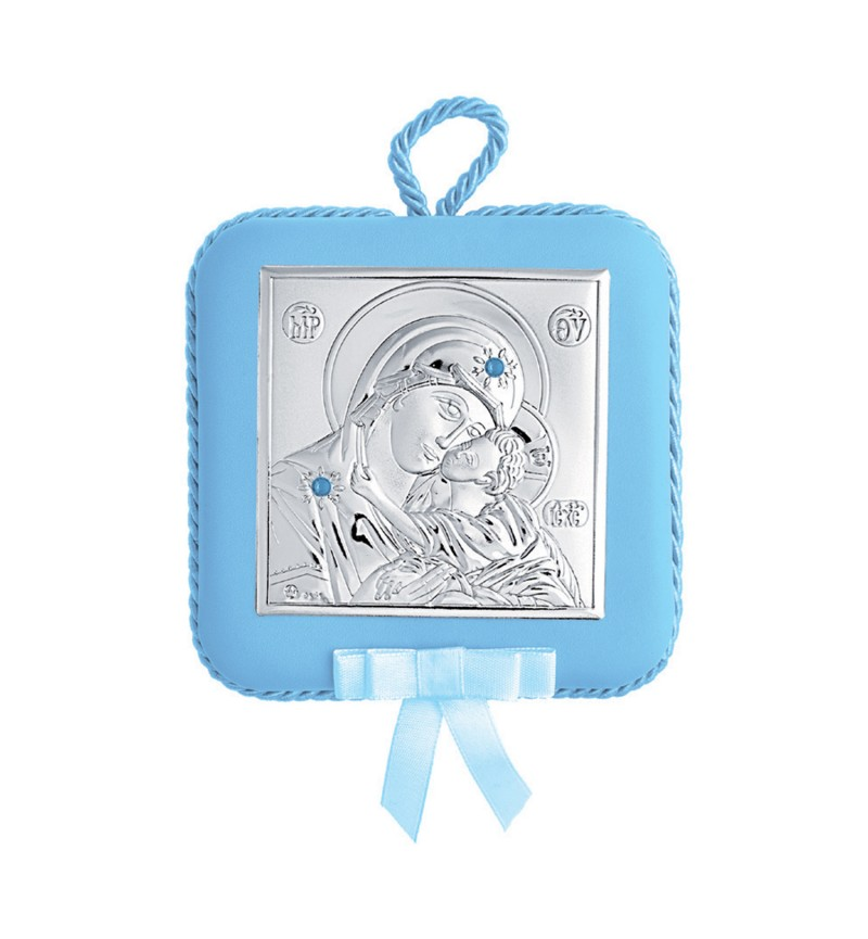 SILVER ORTHODOX ICON FOR BABY BOY MA-DM605-LC