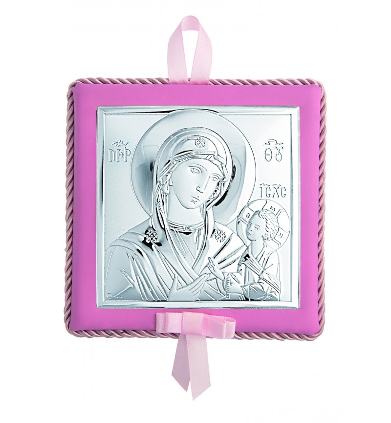 SILVER ORTHODOX ICON FOR BABY GIRL MA-D652LR