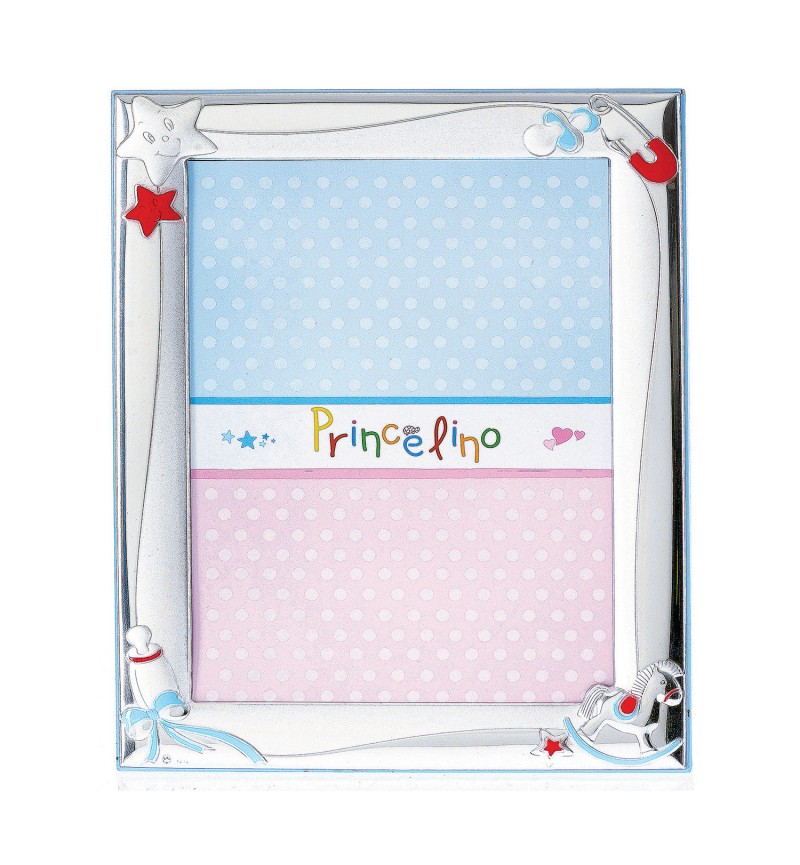 SILVER PHOTO FRAME FOR BABY BOY MA-127B-C 13X18