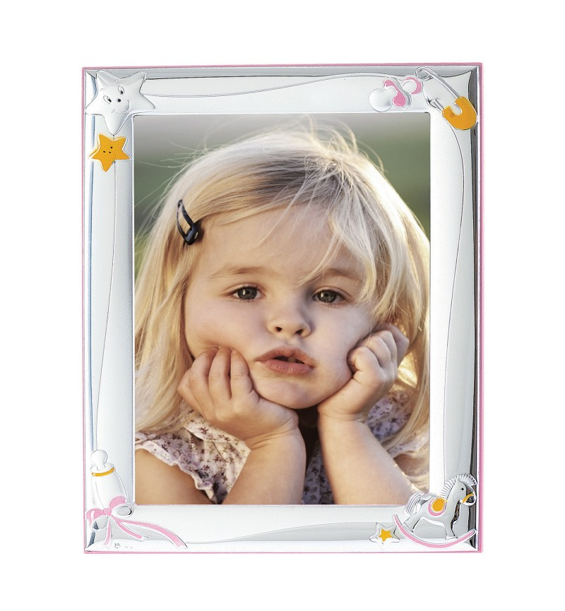 SILVER PHOTO FRAME FOR BABY GIRL MA-127B-R  13X18