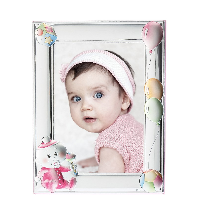 SILVER PHOTO FRAME FOR BABY GIRL MA-130B-R 13x18