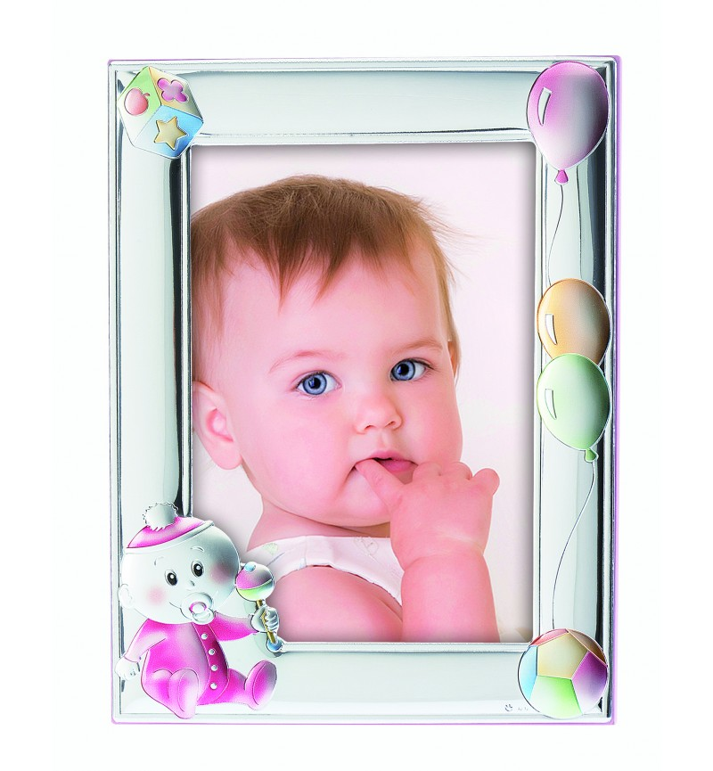 Silver photo frame for baby girl MA/130R