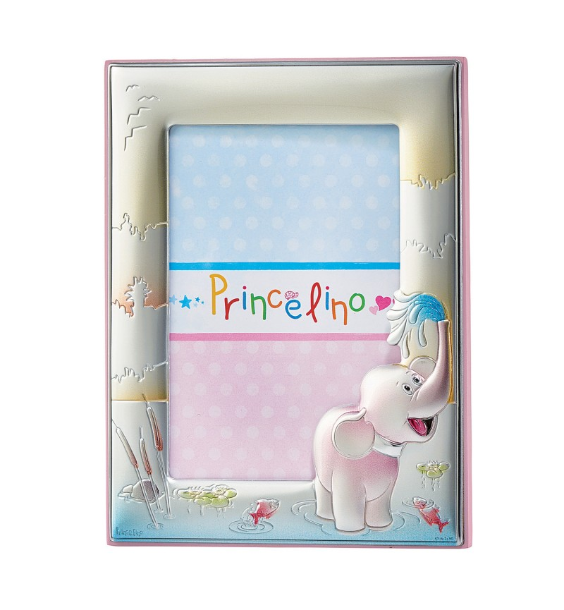 SILVER PHOTO FRAME FOR BABY GIRL MA-133B-R  13X18