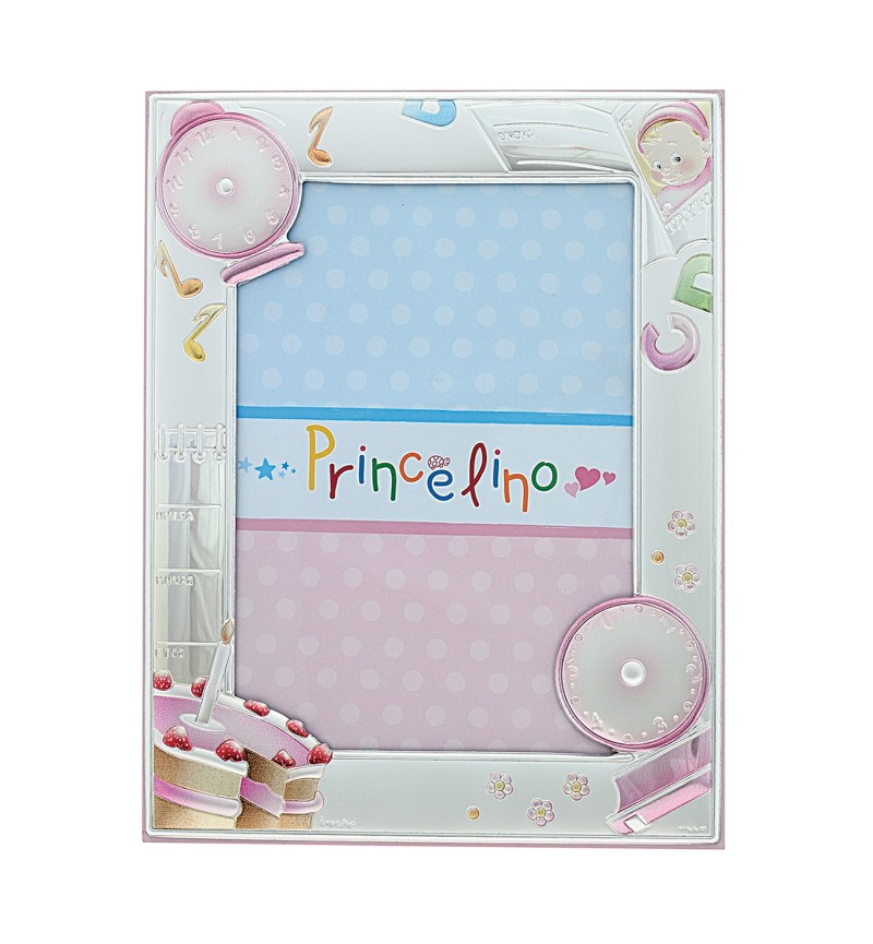 SILVER PHOTO FRAME FOR BABY GIRL MA-138B-R  13X18