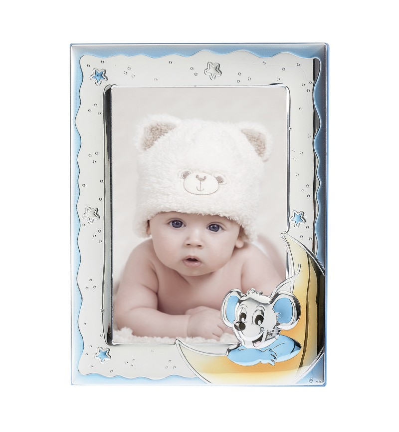 SILVER PHOTO FRAME FOR BABY BOY MA-S126-DC