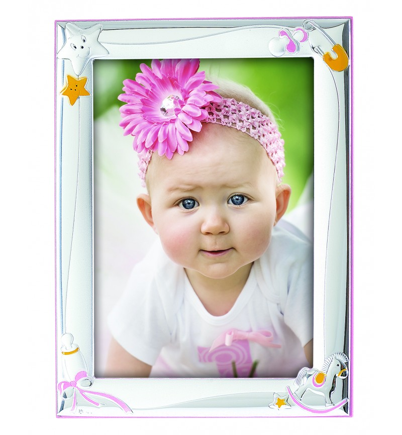 Silver photo frame for baby girl MA/127BR
