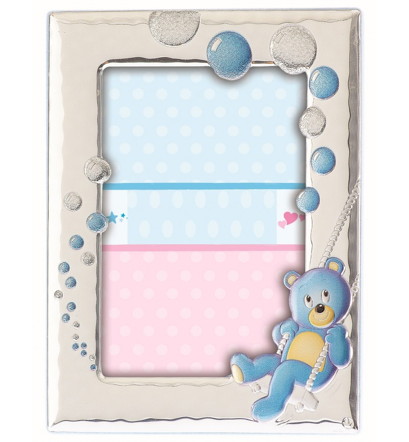 SILVER PHOTO FRAME FOR BABY BOY MB-122BC