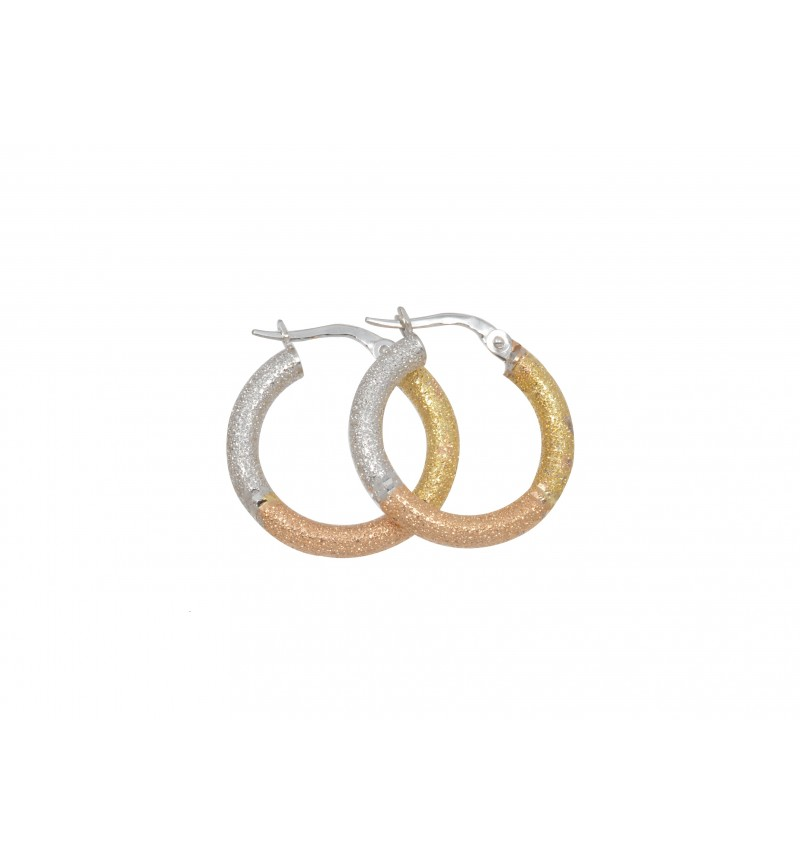 HOOPS GLITTERING GOLD COLORS