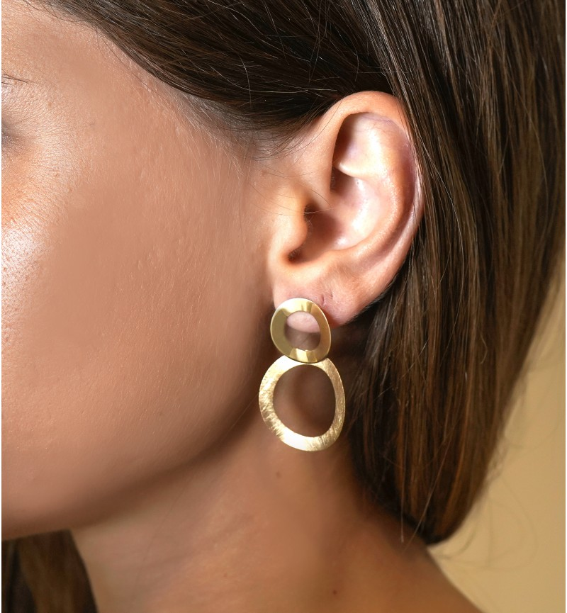 EARRINGS GOLD CYCLES