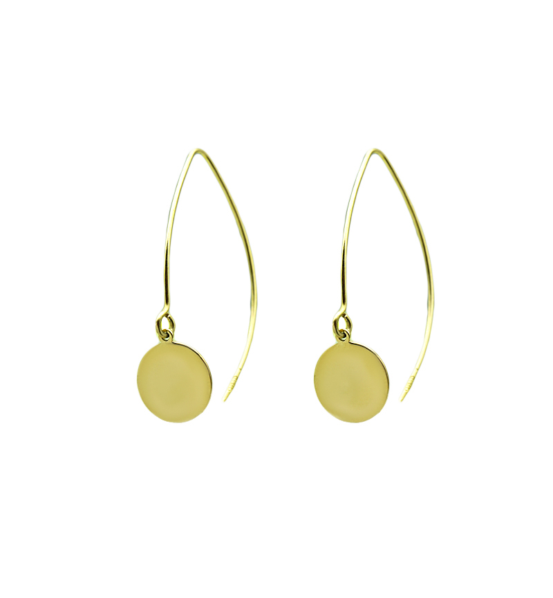 Earrings yellow gold cycle