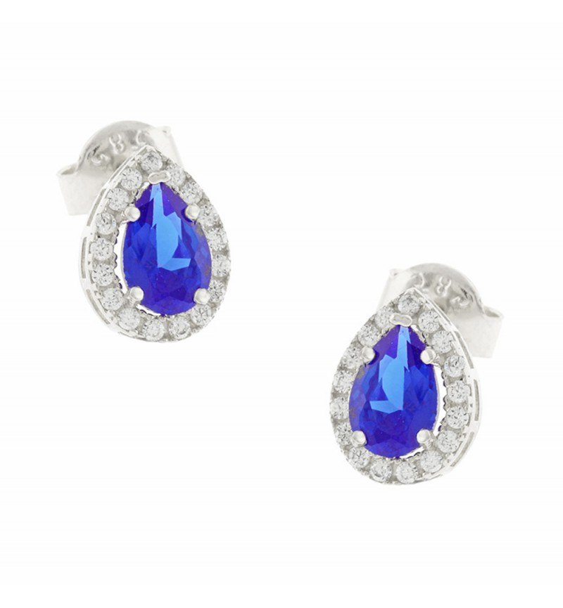 ΣΚΟΥΛΑΡΙΚΙΑ WHITE GOLD BLUE DROP SMALL