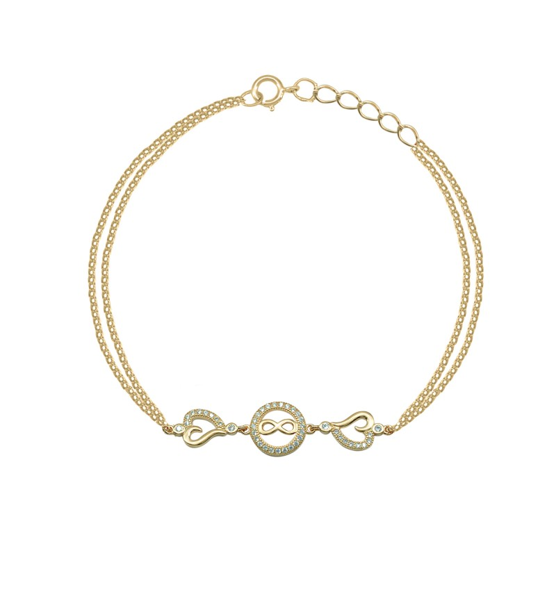 BRACELET WITH INFINITY AND HEART