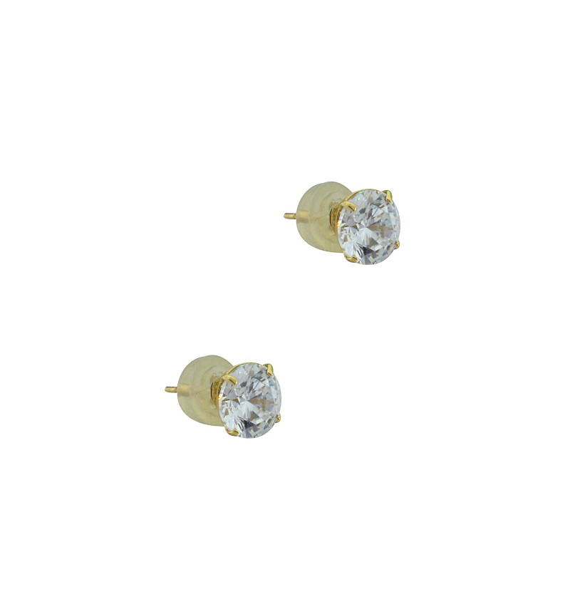 Ζircon gemstone earring