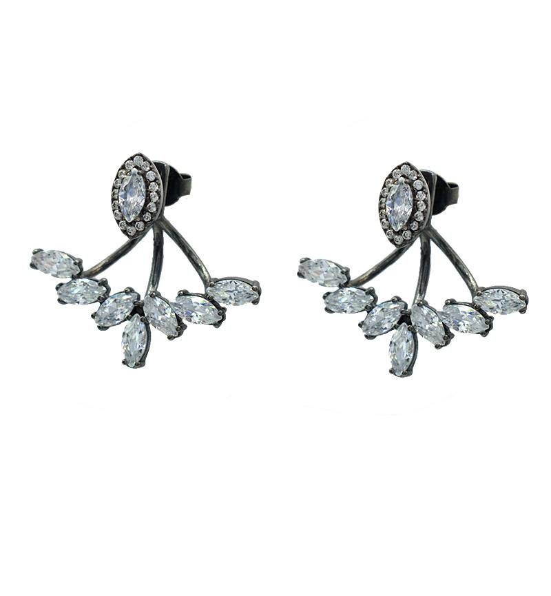 Σκουλαρίκια white gemstones καρφωτα