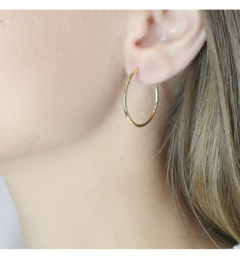 HOOPS EARRINGS CLASSIC 3cm